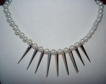 Pearls and Spikes Necklace
