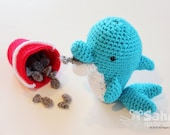 PATTERN Instant Download O-So-Cute Goose the Dolphin Crochet Amigurumi Animal doll