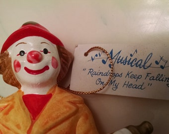 Gorham  Ceramic   Fireman Clown Music Box