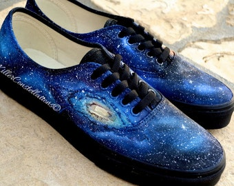 Custom Painted Milky Way Galaxy Vans