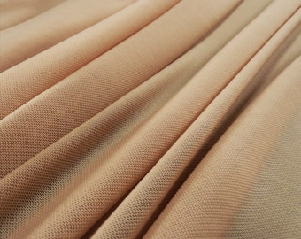 Skin Nude Flesh Coloured lingerie mesh 150cm wide - great for illusion panels -  Sold by the metre (N4)