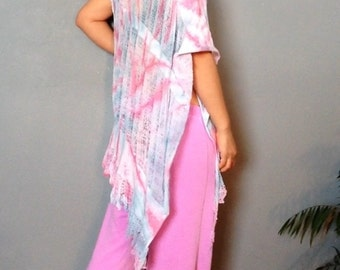Shredded Tie Dyed Wrap ~ slowshine