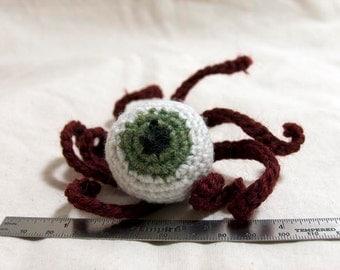 Zombie Eyeball catnip toy (for cats) - envy green