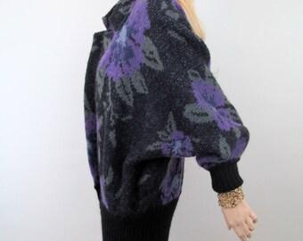 80's Sweater / Minimalist Jacket / Minimalist Sweater / Slouchy Sweater / Oversized Sweater / 80's Jacket / Vintage Jacket  Oversized Jacket