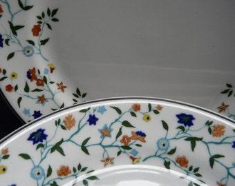 Shenango China, vintage restaurant ware, floral, plates, set of 6