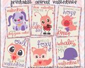 Valentine Printable PDF - Printable Party Supplies - Printable Valentines