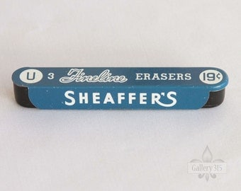 Vintage Sheaffer's Tin of Fineline Mechanical Pencil Erasers