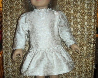 "American Girl, 18 "" Doll Silky Print Party Dress and Accessories"