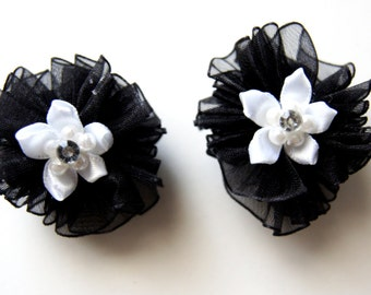 Black Dog Hair Bows