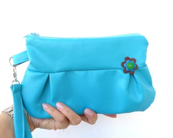 Clutch  pouch  wristlet zipped pouch small bag  different colours to choose
