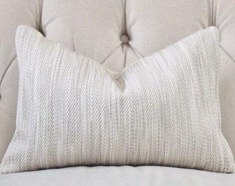 Gray Beige Herringbone Pillow - Neutral Pillow Cover - Neutral Stone Throw Pillow - Modern Home Decor - Geometric Greige Pillow