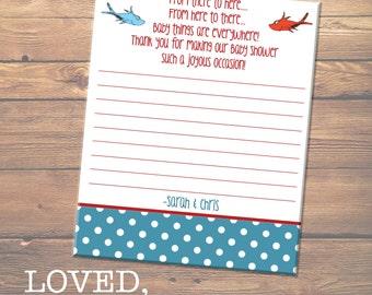 CUSTOM DIGITAL FILE - Dr. Seuss Baby Shower Thank You Card
