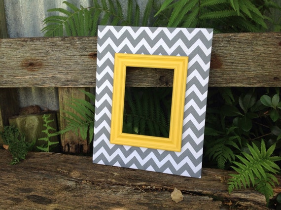 Wood picture frame fabric covered frame gray by theredwoodbarn for Fabric picture frames
