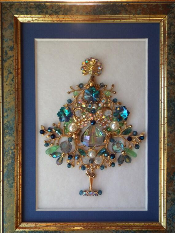 Jewelry Christmas Tree Dancing Ballerina Framed Art