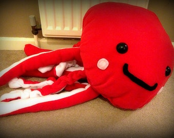 Handmade Giant Jerry the Jellyfish Cushion Plush ( Choose your own Colors!! )