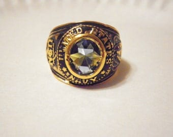 1 Antiqued Goldplated U.S. Navy Ring