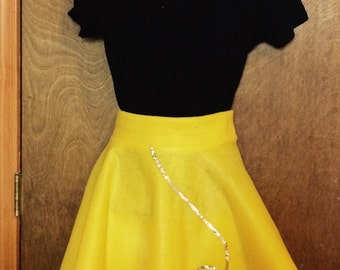 Yellow poodle skirt