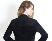 Black  women jacket,  Women's tuxedo,velvet winter coat