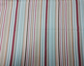Multicolored Stripe Fabric Sold by the yard