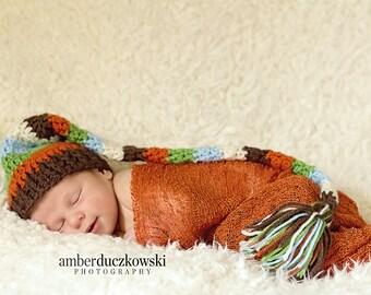 Multi Colored Elf Hat