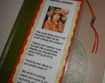 Martha Levinson Downton Abbey Bookmark - Laminated