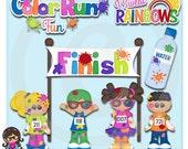 2015 Color Run Fun  Clip art  Clipart Graphics  Commercial Use