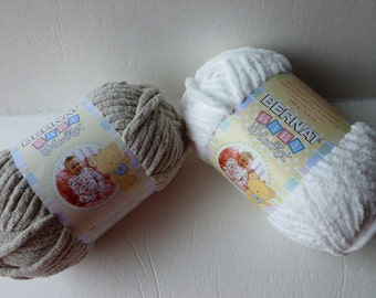 Yarn Sale  - Baby Dove and White  Baby Blanket by Bernat