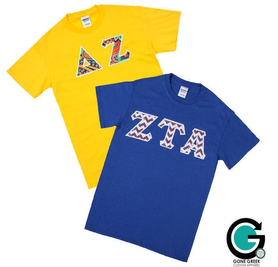 Custom combo color greek t shirts sorority and by gonegreek for Custom greek letter t shirts