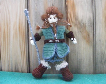 "Nori,Dwarf, crochet doll inspired by Tolkien's book and film ""The Hobbit"""