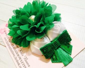 Emerald headband emerald green headband Christmas headband green Christmas headband deep green headband