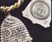 Rebekah's Odd fellows beehive medallion.