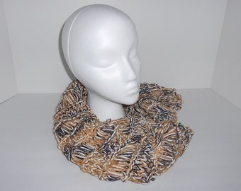 Black, Gold, and White Infinity Scarf