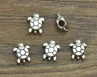 5/10/20/50 Turtle Charms Antique Tibetan Silver Tone - SC2397