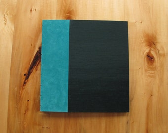 Suede and Book Cloth Photo Album with Black Paper