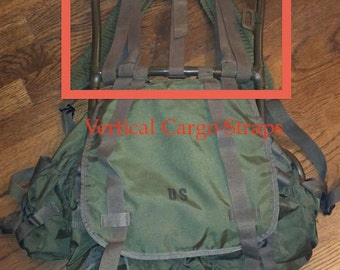 Reproduction Vertical Cargo Straps for Vietnam Era Lightweight Rucksack Frame