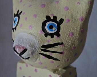 Bunny Rabbit OOAK art doll sculpture: 2-sided