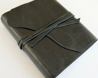 Custom Handmade to Order Bound Black Leather Journal Diary Notebook (285B)