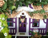 Enchanting..Rose Petal Fairy House....Kit House,Complete! ......Hand Crafted...Lights....OOAK