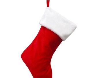 Christmas Stocking - Custom Cross Stitch - Custom Stocking - Cross Stitch Stocking - Personalized Christmas Stocking