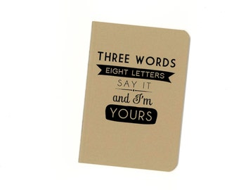 Blair Waldorf quote notebook - Gossip Girl - three words eight letters
