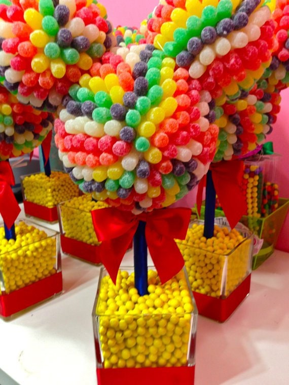 Mouse Head Ears Centerpiece  Candy Topiary, Candy Buffet Decor, Clubhouse, Wedding, Mitzvah,  Birthday