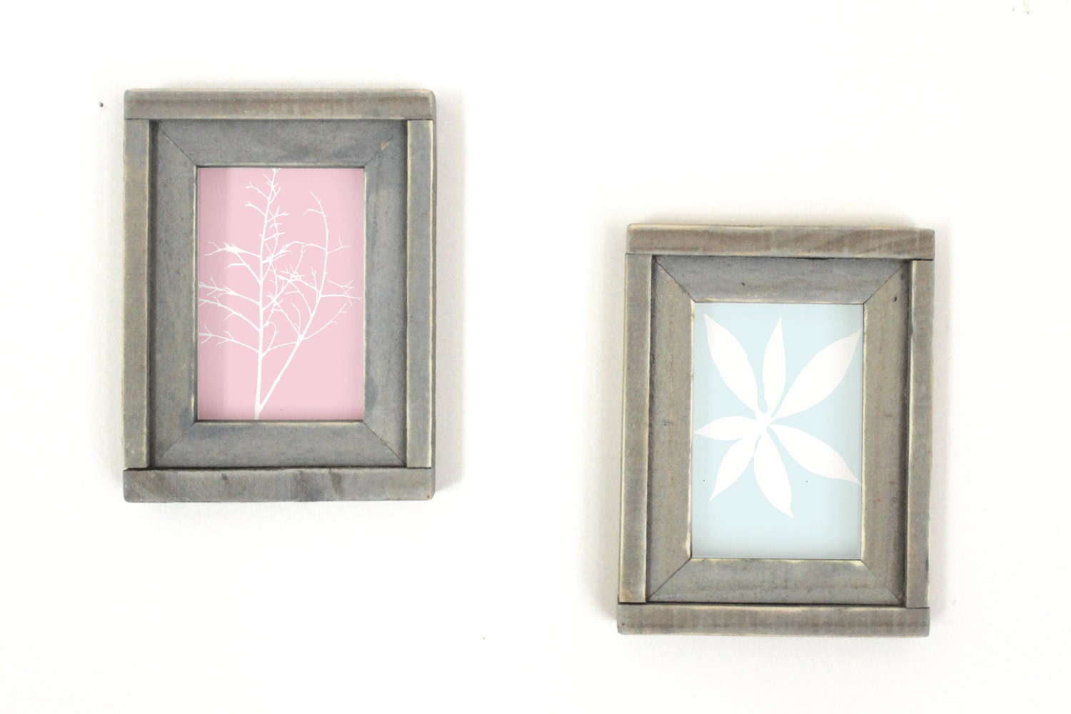 two 5x7 wood picture frames housewarming by thesummeryumbrella. Black Bedroom Furniture Sets. Home Design Ideas