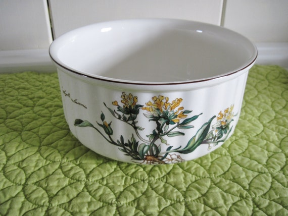 villeroy boch botanica with roots large souffle dish retired. Black Bedroom Furniture Sets. Home Design Ideas