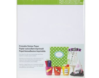 Cricut Explore PRINTABLE STICKER PAPER  - New !!!   Now In Stock !!  Use with Any Ink Jet Printer & CRicut