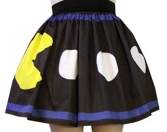 Printed Retro Video Game Skirt