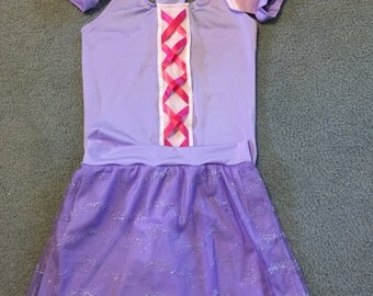 purple princess running costume