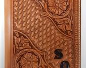 Custom,Hand tooled leather Ipad Air or Ipad 2,3,4  case