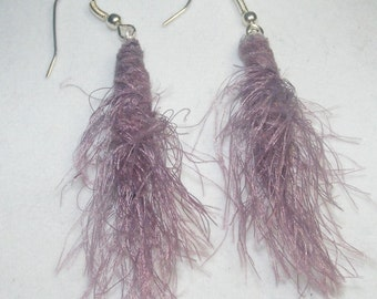 Fiber Bead Earrings have never been more fabulous! Choose gold, mauve or gray