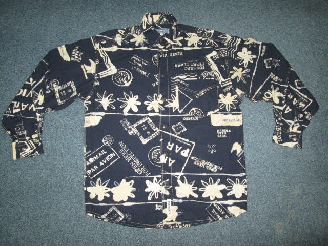 vintage iceberg history shirt original made in italy