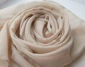 Silk Chiffon Scarf, Handmade scarf, Women's Scarf, Gift for Her, Gift for Girlfriend